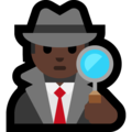 Man Detective: Dark Skin Tone on Microsoft Windows 10 May 2019 Update