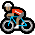 Man Biking: Medium Skin Tone on Microsoft Windows 10 May 2019 Update