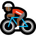 Man Biking: Medium-Dark Skin Tone on Microsoft Windows 10 May 2019 Update