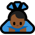 Man Bowing: Medium-Dark Skin Tone on Microsoft Windows 10 May 2019 Update