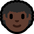 Man: Dark Skin Tone, Curly Hair on Microsoft Windows 10 May 2019 Update