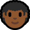 Man: Medium-Dark Skin Tone, Curly Hair on Microsoft Windows 10 May 2019 Update