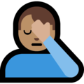 Man Facepalming: Medium Skin Tone on Microsoft Windows 10 May 2019 Update