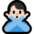 Man Gesturing No: Light Skin Tone on Microsoft Windows 10 May 2019 Update