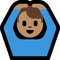 Man Gesturing OK: Medium Skin Tone on Microsoft Windows 10 May 2019 Update