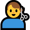Man Getting Haircut on Microsoft Windows 10 May 2019 Update