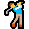 Man Golfing on Microsoft Windows 10 May 2019 Update
