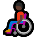 Man in Manual Wheelchair: Dark Skin Tone on Microsoft Windows 10 May 2019 Update