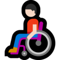 Man in Manual Wheelchair: Light Skin Tone on Microsoft Windows 10 May 2019 Update