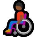 Man in Manual Wheelchair: Medium-Dark Skin Tone on Microsoft Windows 10 May 2019 Update