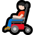 Man in Motorized Wheelchair: Light Skin Tone on Microsoft Windows 10 May 2019 Update