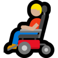 Man in Motorized Wheelchair: Medium-Light Skin Tone on Microsoft Windows 10 May 2019 Update