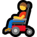 Man in Motorized Wheelchair on Microsoft Windows 10 May 2019 Update