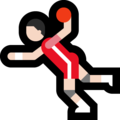 Man Playing Handball: Light Skin Tone on Microsoft Windows 10 May 2019 Update