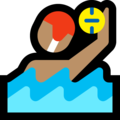 Man Playing Water Polo: Medium Skin Tone on Microsoft Windows 10 May 2019 Update