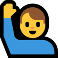 Man Raising Hand on Microsoft Windows 10 May 2019 Update