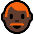 Man: Dark Skin Tone, Red Hair on Microsoft Windows 10 May 2019 Update