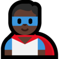 Man Superhero: Dark Skin Tone on Microsoft Windows 10 May 2019 Update