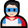 Man Superhero: Light Skin Tone on Microsoft Windows 10 May 2019 Update