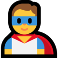 Man Superhero on Microsoft Windows 10 May 2019 Update