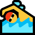 Man Swimming on Microsoft Windows 10 May 2019 Update