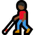 Man With Probing Cane: Medium-Dark Skin Tone on Microsoft Windows 10 May 2019 Update