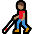 Man with White Cane: Medium Skin Tone on Microsoft Windows 10 May 2019 Update