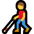 Man with White Cane on Microsoft Windows 10 May 2019 Update