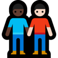 Men Holding Hands: Dark Skin Tone, Light Skin Tone on Microsoft Windows 10 May 2019 Update
