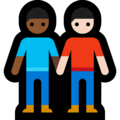 Men Holding Hands: Medium-Dark Skin Tone, Light Skin Tone on Microsoft Windows 10 May 2019 Update