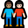 Men Holding Hands: Medium Skin Tone, Light Skin Tone on Microsoft Windows 10 May 2019 Update