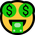 Money-Mouth Face on Microsoft Windows 10 May 2019 Update