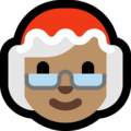 Mrs. Claus: Medium Skin Tone on Microsoft Windows 10 May 2019 Update