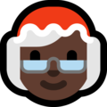 Mrs. Claus: Dark Skin Tone on Microsoft Windows 10 May 2019 Update