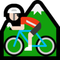 Person Mountain Biking: Light Skin Tone on Microsoft Windows 10 May 2019 Update