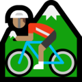 Person Mountain Biking: Medium Skin Tone on Microsoft Windows 10 May 2019 Update