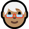 Older Person: Medium Skin Tone on Microsoft Windows 10 May 2019 Update