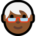 Older Person: Medium-Dark Skin Tone on Microsoft Windows 10 May 2019 Update