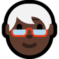 Older Person: Dark Skin Tone on Microsoft Windows 10 May 2019 Update