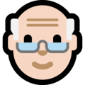 Old Man: Light Skin Tone on Microsoft Windows 10 May 2019 Update