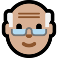 Old Man: Medium-Light Skin Tone on Microsoft Windows 10 May 2019 Update