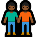 People Holding Hands: Medium-Dark Skin Tone on Microsoft Windows 10 May 2019 Update