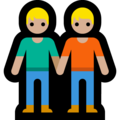 People Holding Hands: Medium-Light Skin Tone on Microsoft Windows 10 May 2019 Update
