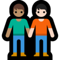 People Holding Hands: Medium Skin Tone, Light Skin Tone on Microsoft Windows 10 May 2019 Update