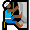 Person Climbing: Medium-Dark Skin Tone on Microsoft Windows 10 May 2019 Update
