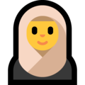 Woman with Headscarf on Microsoft Windows 10 May 2019 Update