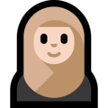 Woman With Headscarf: Light Skin Tone on Microsoft Windows 10 May 2019 Update