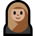 Woman With Headscarf: Medium-Light Skin Tone on Microsoft Windows 10 May 2019 Update