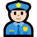 Police Officer: Light Skin Tone on Microsoft Windows 10 May 2019 Update
