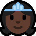 Princess: Dark Skin Tone on Microsoft Windows 10 May 2019 Update